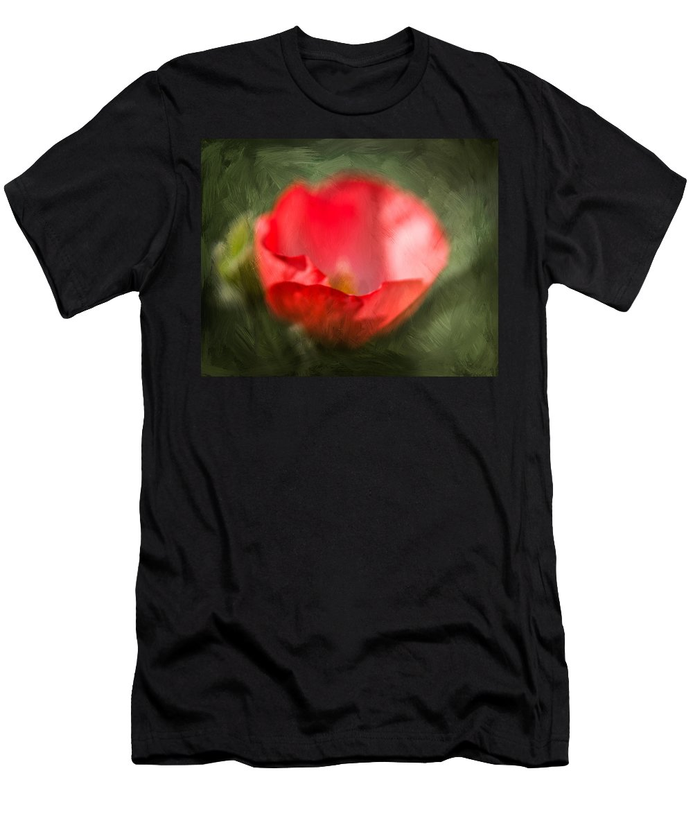 Annual Men's T-Shirt (Athletic Fit) featuring the photograph Single Poppy by Charles Wollertz