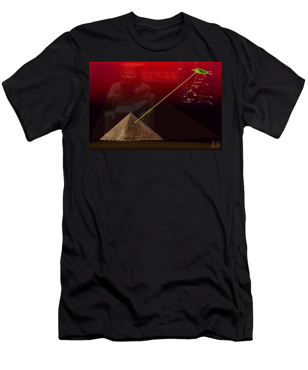 Digital Men's T-Shirt (Athletic Fit) featuring the painting Sirius 4 Cheops by Helmut Rottler