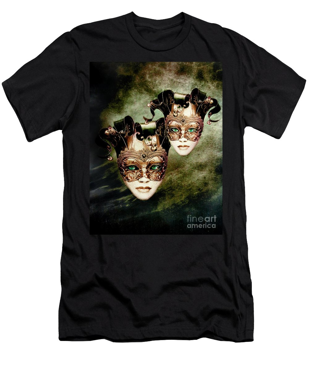 Woman Men's T-Shirt (Athletic Fit) featuring the digital art Sisters by Jacky Gerritsen