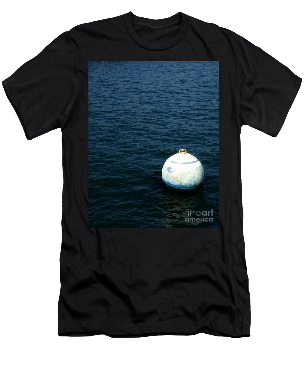Seascape Men's T-Shirt (Athletic Fit) featuring the photograph Sit And Bounce by Shelley Jones