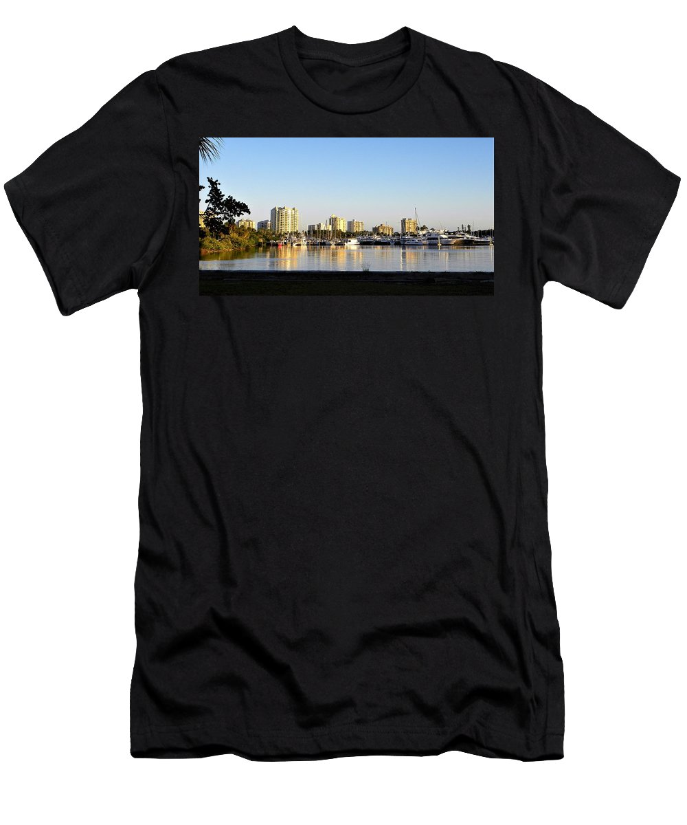 Boat Men's T-Shirt (Athletic Fit) featuring the photograph Sit And Look by Ric Schafer