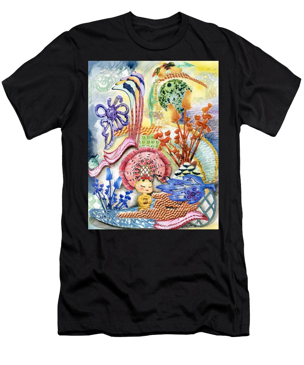 Bright Men's T-Shirt (Athletic Fit) featuring the painting Sitting Pretty by Valerie Meotti