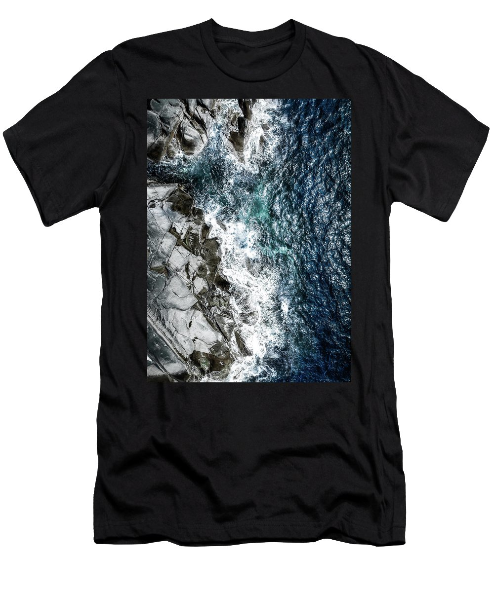 Drone T-Shirt featuring the photograph Skagerrak Coastline - Aerial Photography by Nicklas Gustafsson