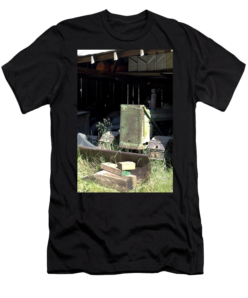 Backhoe Men's T-Shirt (Athletic Fit) featuring the photograph Skid by Sara Stevenson