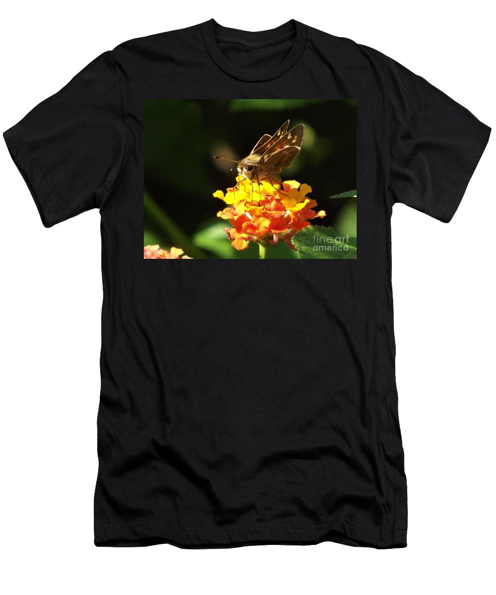 Skipper Moth Men's T-Shirt (Athletic Fit) featuring the photograph Skipper by Dee Winslow