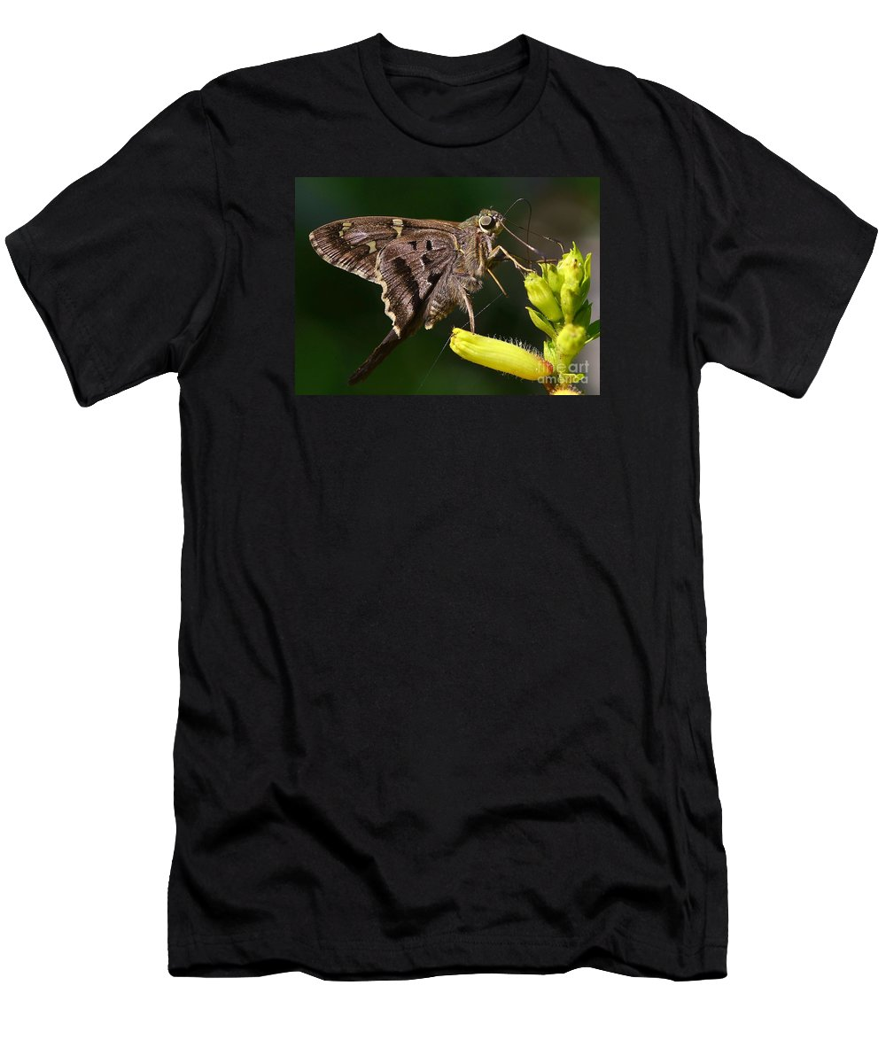 Butterfly Men's T-Shirt (Athletic Fit) featuring the photograph Skipper Delight by Lisa Renee Ludlum