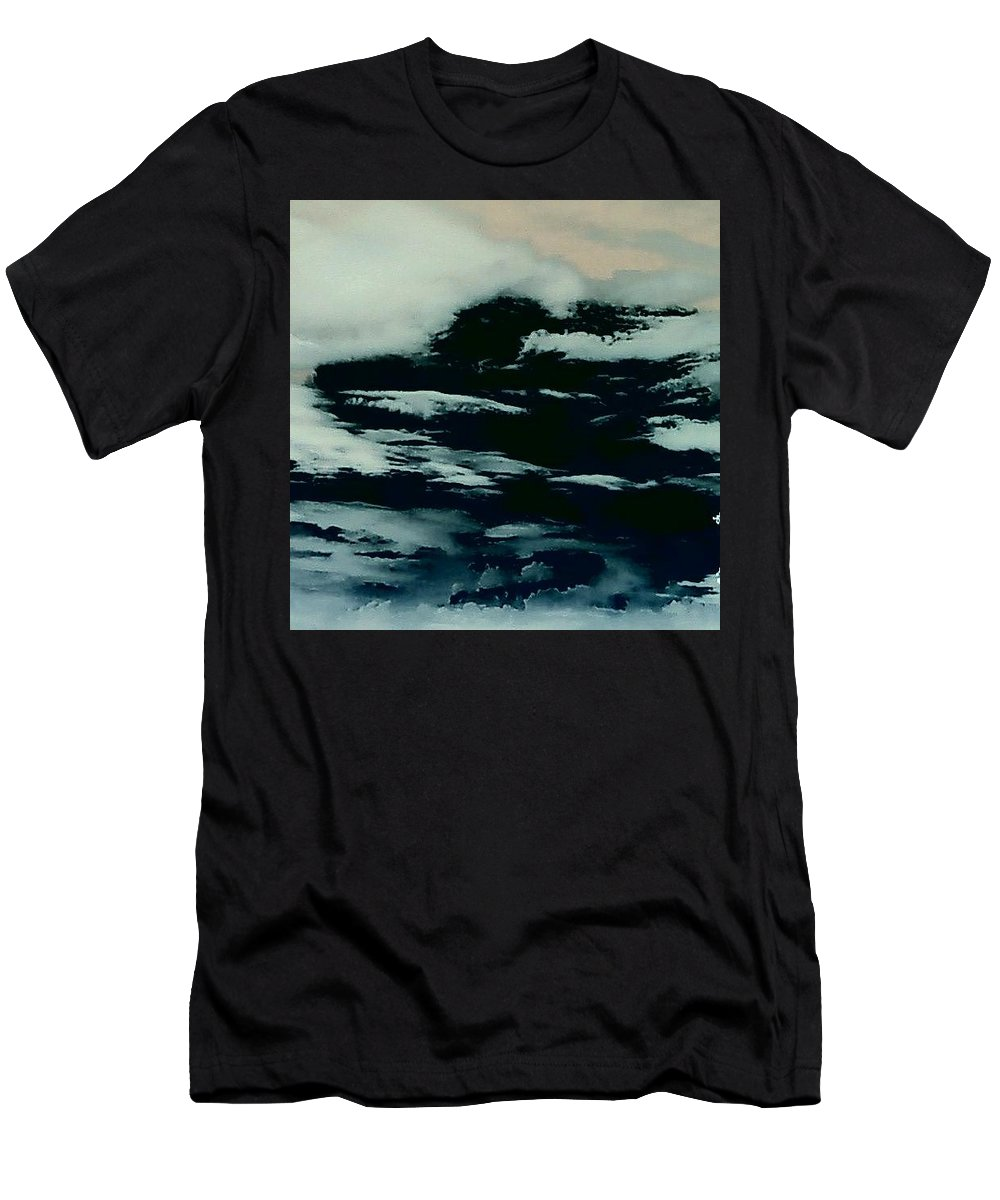 Clouds Sky Dark Men's T-Shirt (Athletic Fit) featuring the photograph Sky 7 by Cindy New