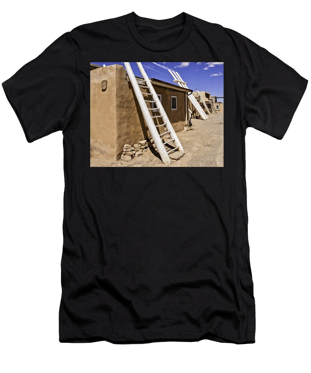 Acoma Men's T-Shirt (Athletic Fit) featuring the photograph Sky City #1 by Tom Wiggins