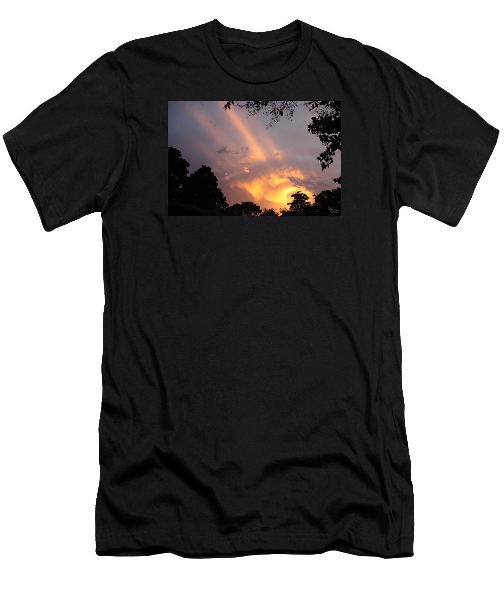 Clouds Men's T-Shirt (Athletic Fit) featuring the photograph Sky King by Wanda Fuchs
