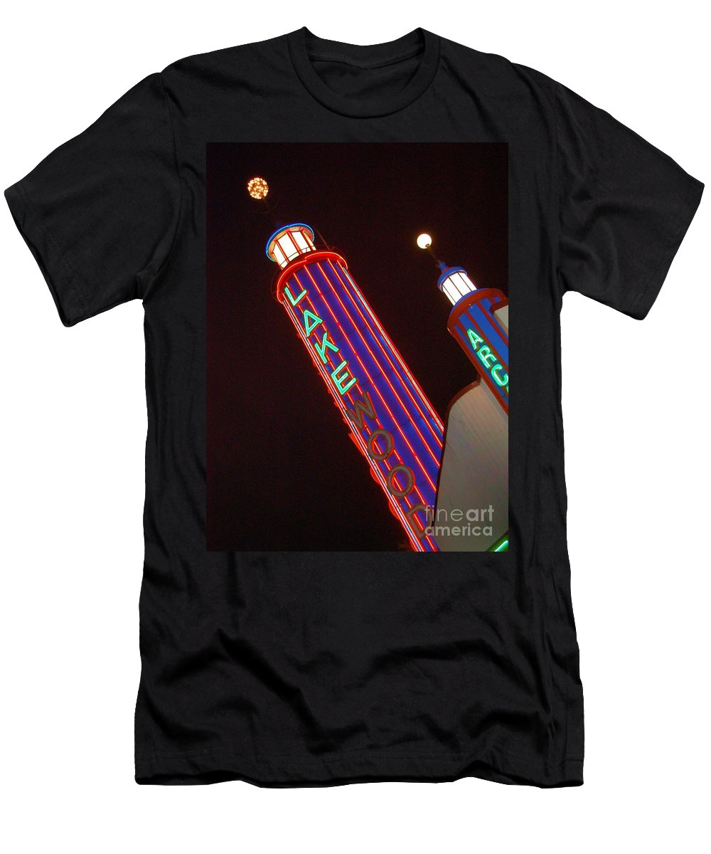 Neon Men's T-Shirt (Athletic Fit) featuring the photograph Sky Lights by Debbi Granruth