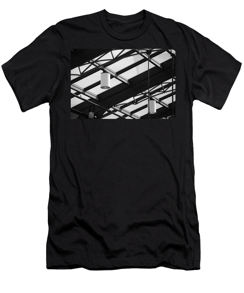 Black And White Men's T-Shirt (Athletic Fit) featuring the photograph Sky Lights by Rob Hans