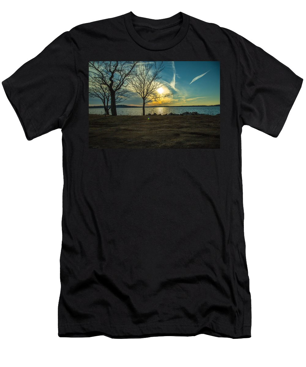 Sunset Men's T-Shirt (Athletic Fit) featuring the photograph Sky by Robert Rotkowitz