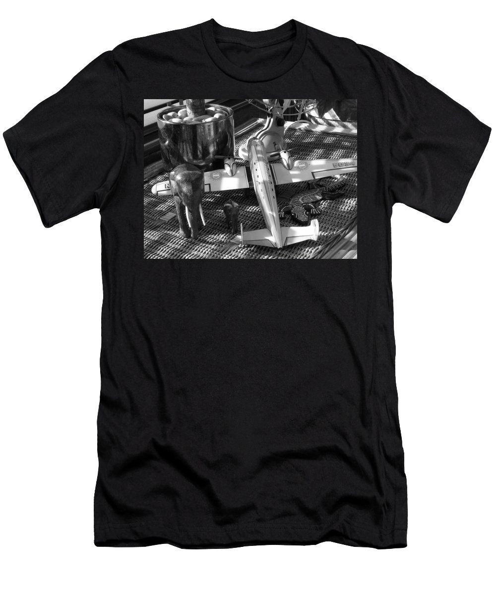 Still Life Men's T-Shirt (Athletic Fit) featuring the photograph Skycruiser by Charles Stuart