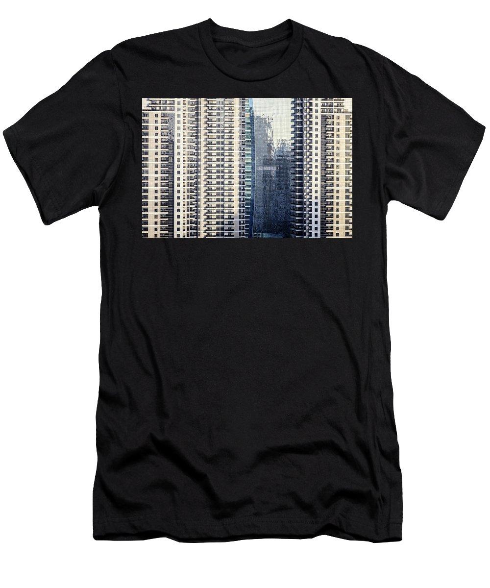 Dubai Men's T-Shirt (Athletic Fit) featuring the photograph Skyscraper Windows by Alexey Stiop