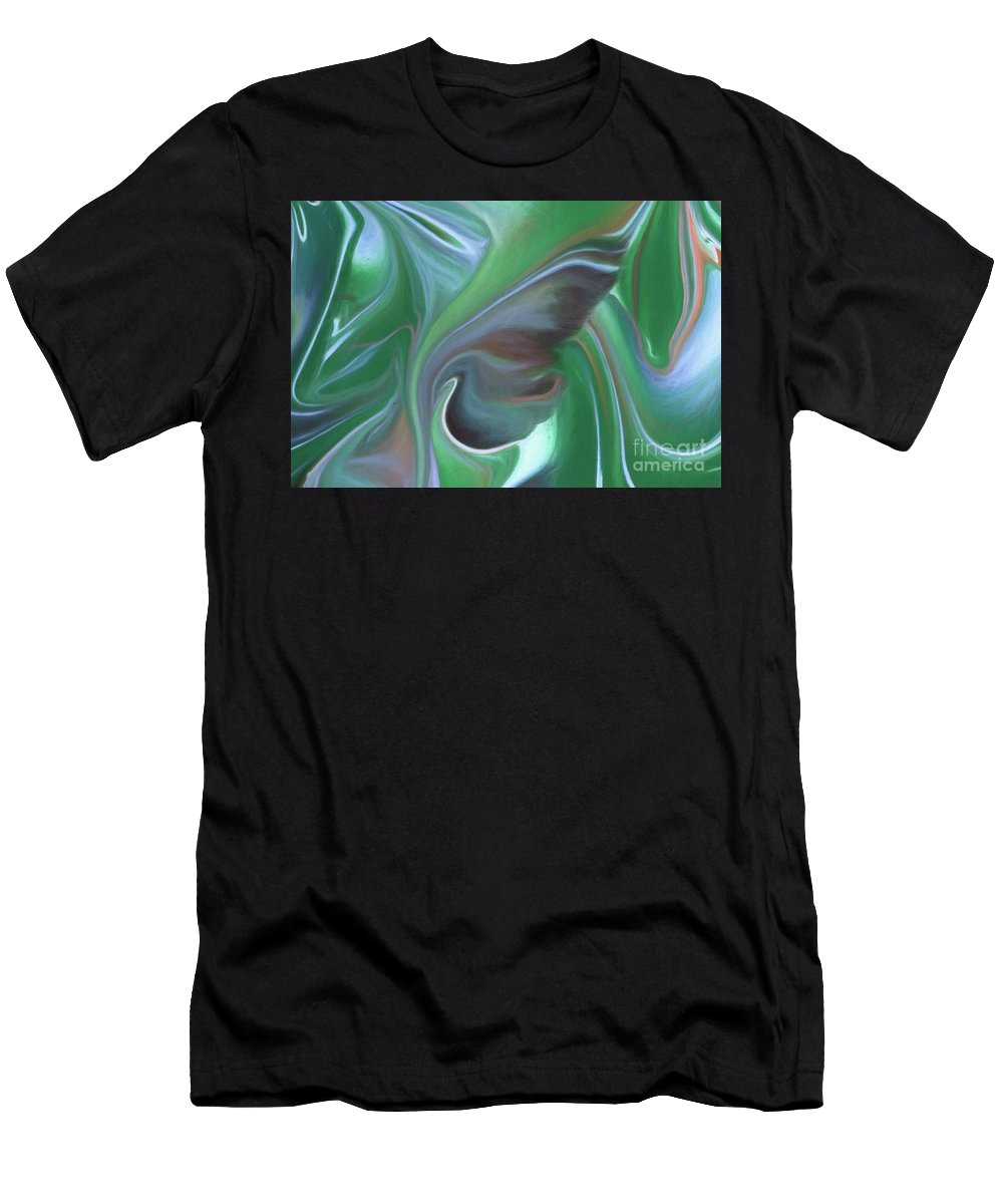 Abstract Men's T-Shirt (Athletic Fit) featuring the painting Sleep Softly by Patti Schulze