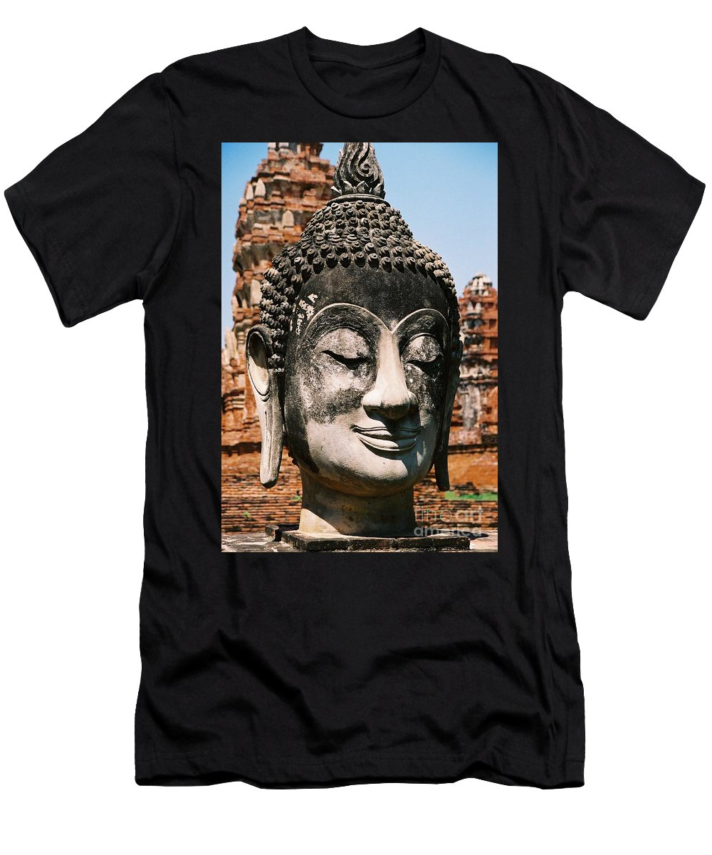 Statue Men's T-Shirt (Athletic Fit) featuring the photograph Sleepy Face by Mary Rogers