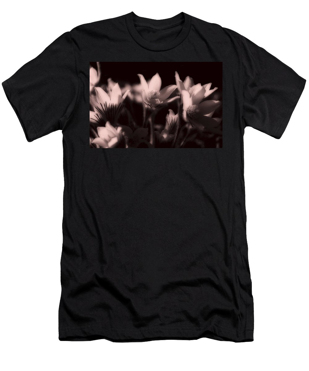 Flowers Men's T-Shirt (Athletic Fit) featuring the photograph Sleepy Flowers 2 by Marilyn Hunt