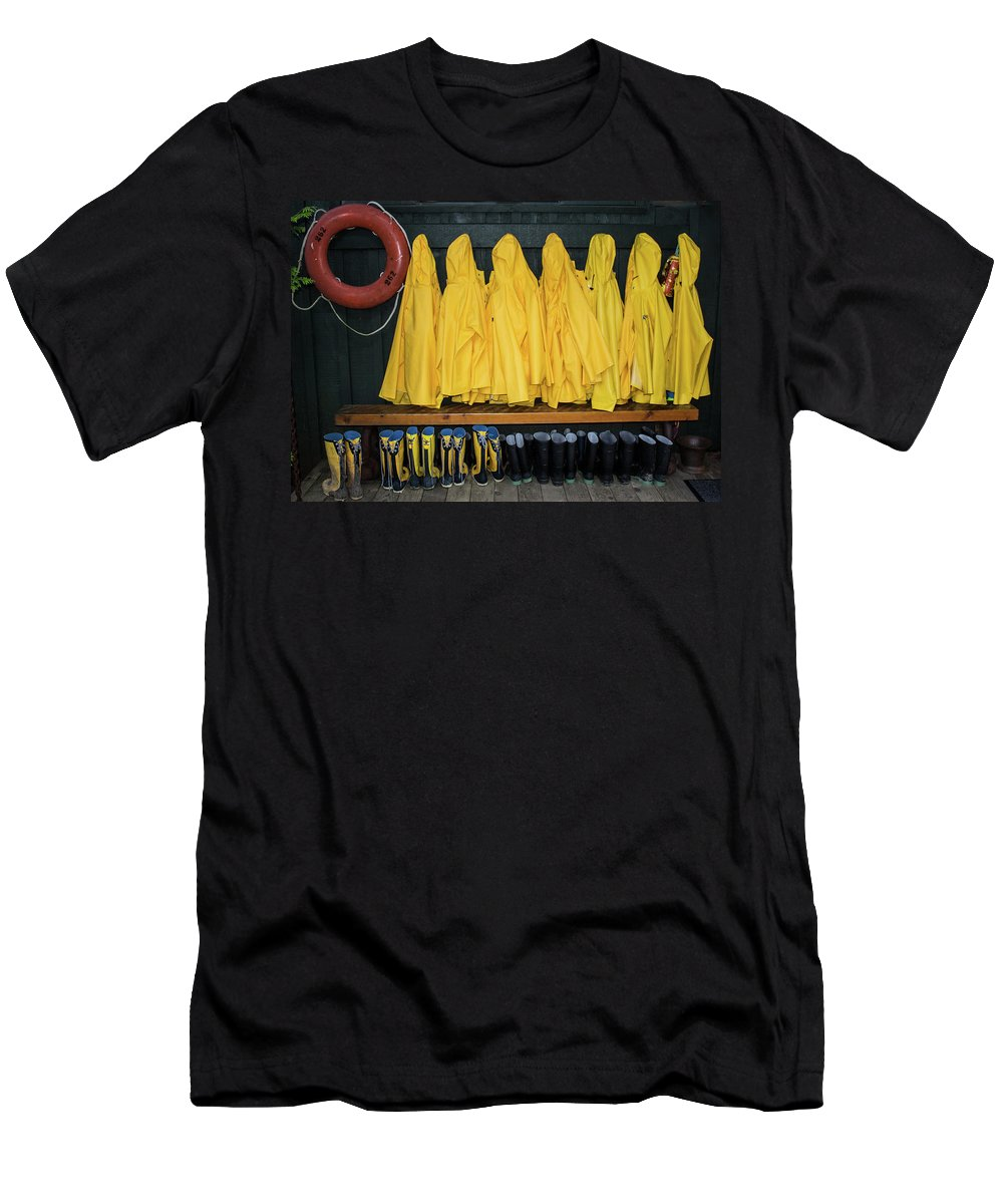 Tofino Men's T-Shirt (Athletic Fit) featuring the photograph Slickers by Gary W Baird