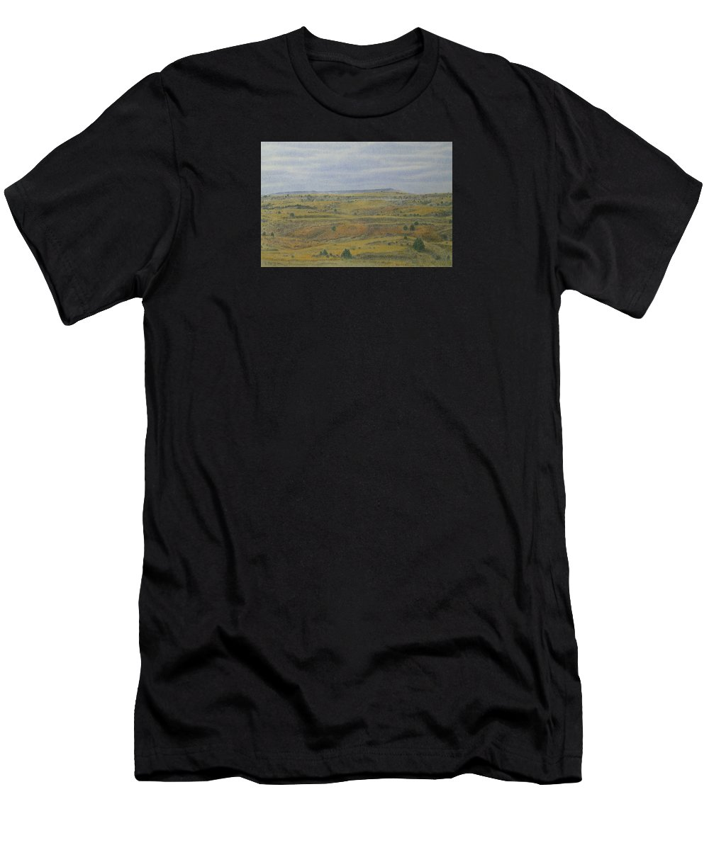 Slope County Men's T-Shirt (Athletic Fit) featuring the drawing Slope County Splendor by Cris Fulton