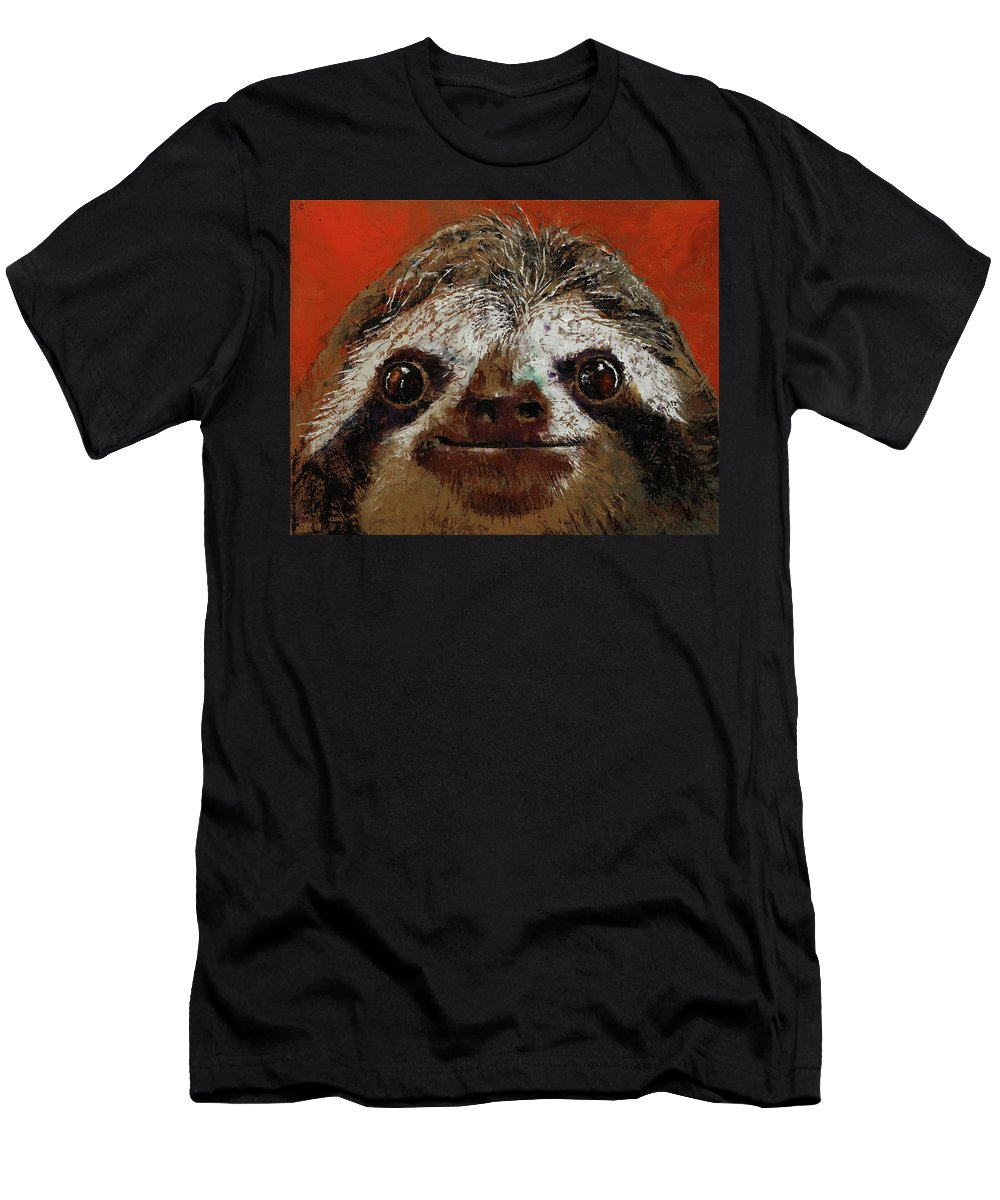 Fun T-Shirt featuring the painting Sloth by Michael Creese