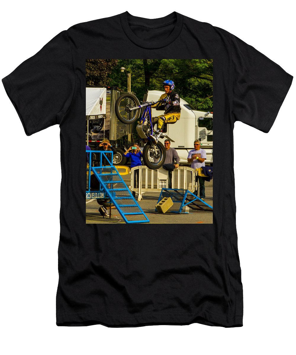 Pat Smage Men's T-Shirt (Athletic Fit) featuring the photograph Smage Launched by Jeff Kurtz