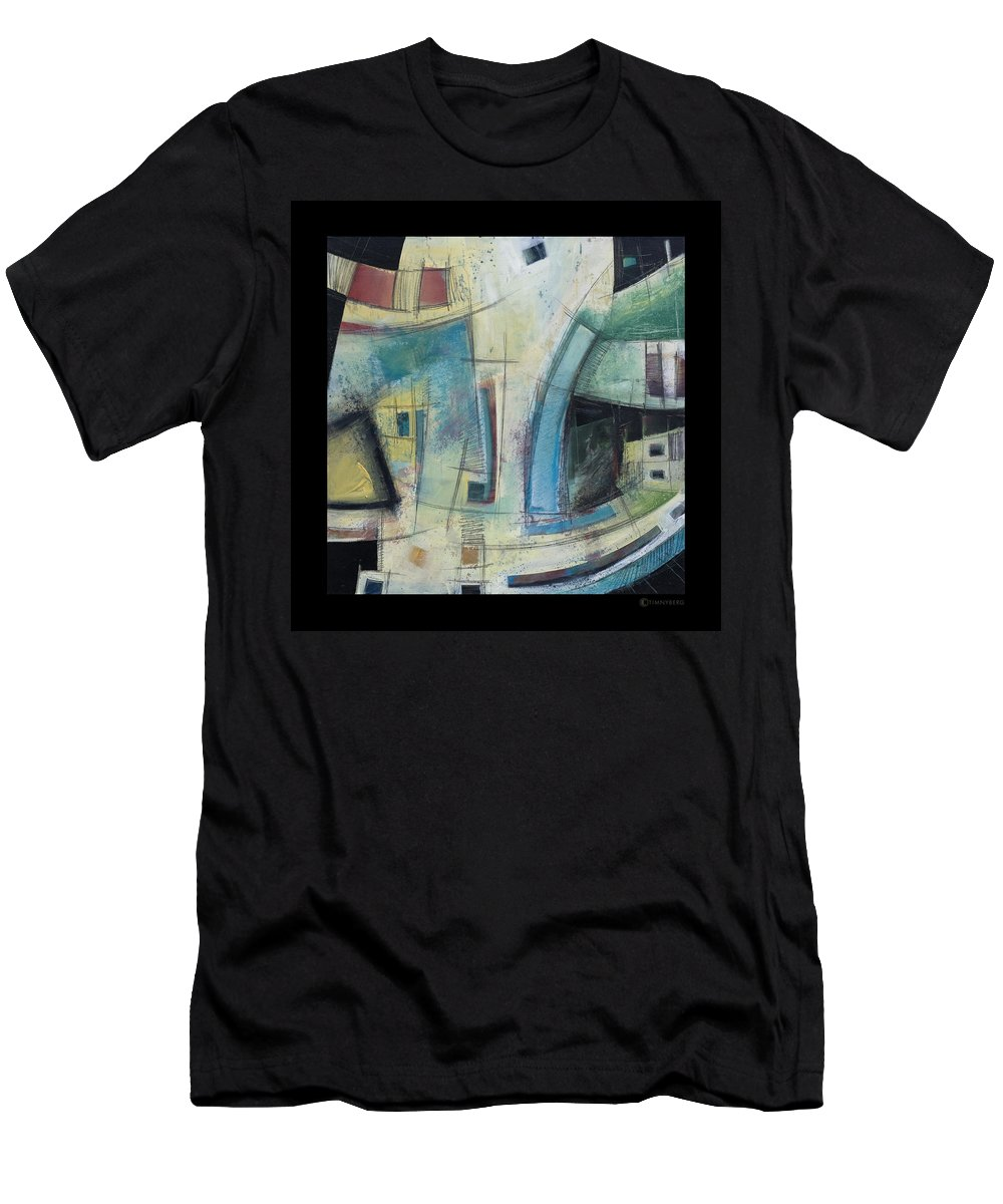 Abstract Men's T-Shirt (Athletic Fit) featuring the painting Small Town Blues by Tim Nyberg