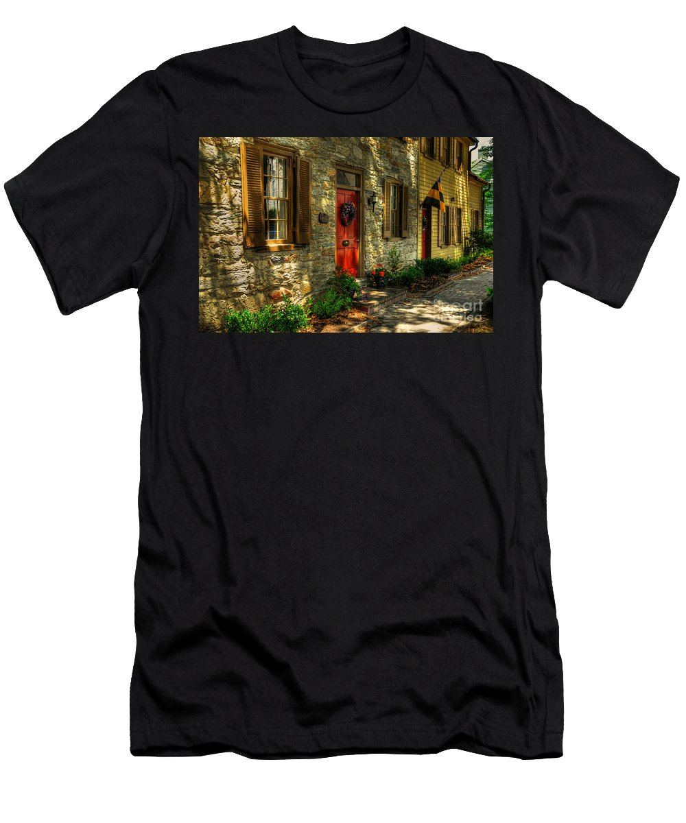 Small Town Men's T-Shirt (Athletic Fit) featuring the photograph Small Town Usa by Lois Bryan