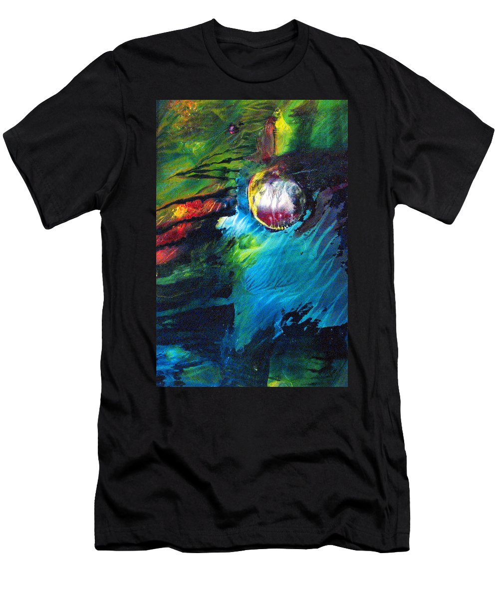 World Men's T-Shirt (Athletic Fit) featuring the painting Small World by Janice Nabors Raiteri