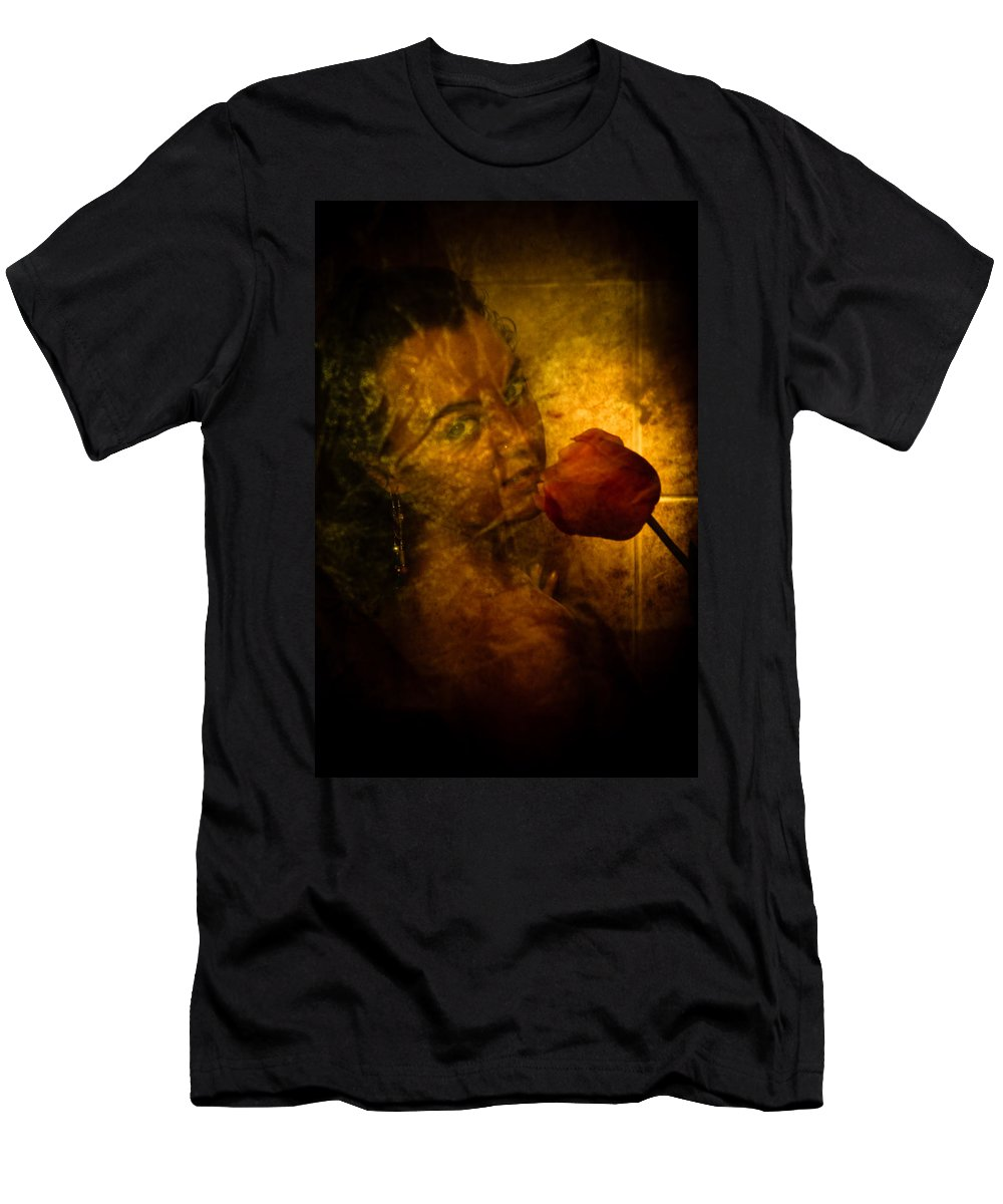 Flower Men's T-Shirt (Athletic Fit) featuring the photograph Smelling The Flowers by Scott Sawyer