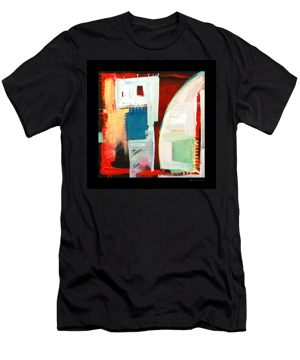 Color Men's T-Shirt (Athletic Fit) featuring the painting Smilin by Tim Nyberg