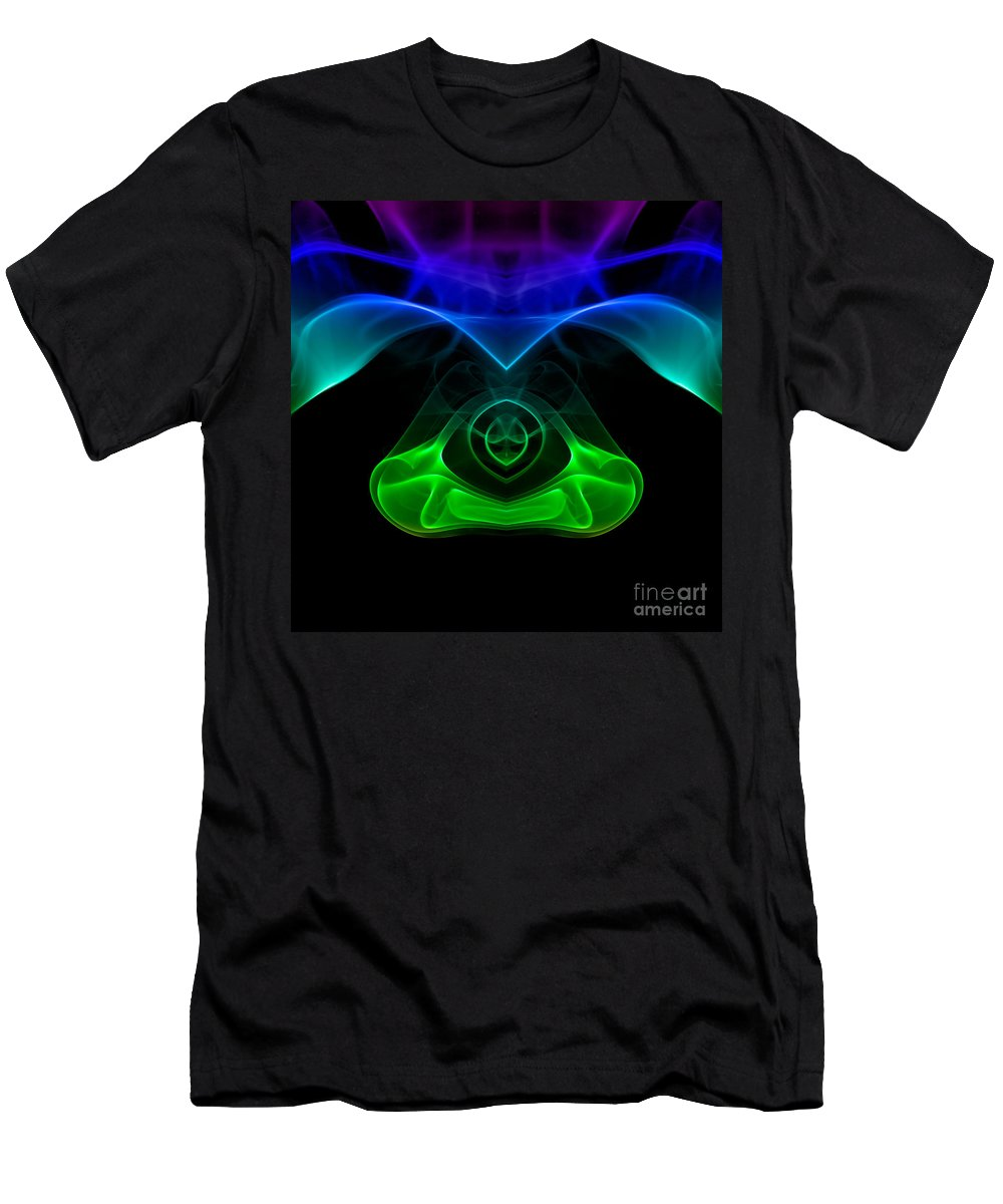 Abstract Men's T-Shirt (Athletic Fit) featuring the photograph smoke XXXII mb1 by Joerg Lingnau