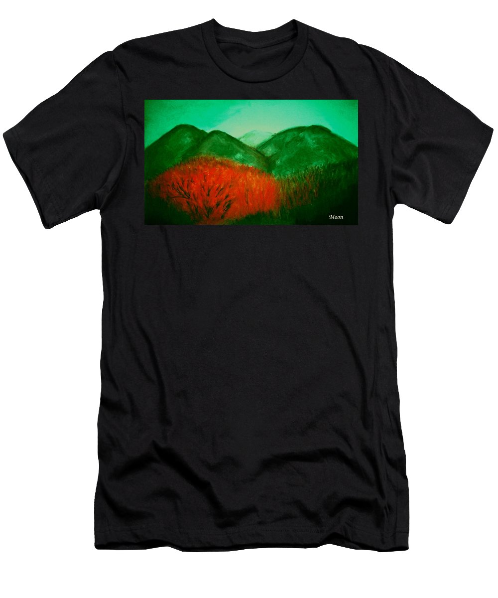 Mountains Men's T-Shirt (Athletic Fit) featuring the pastel Smoky by Melvin Moon