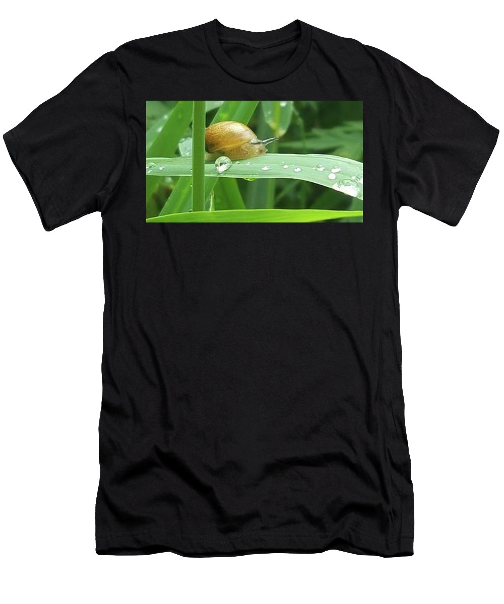 Men's T-Shirt (Athletic Fit) featuring the photograph Snail by Jessica Murphy
