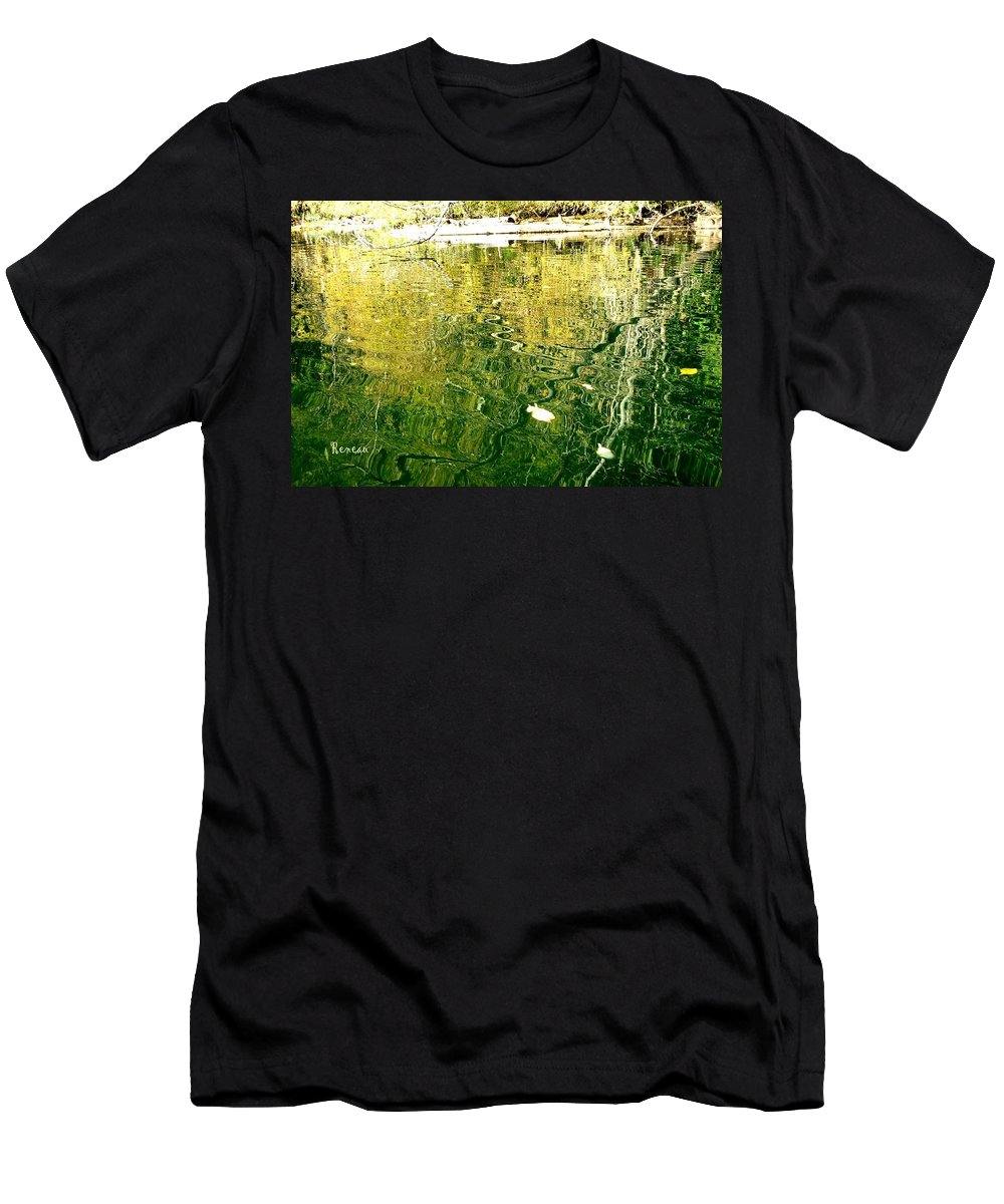 Trees Men's T-Shirt (Athletic Fit) featuring the photograph Snaky Reflection by A L Sadie Reneau