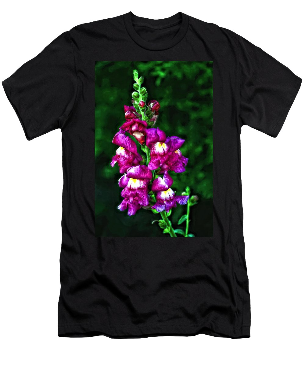 Flower Men's T-Shirt (Athletic Fit) featuring the photograph Snappy II by Steve Harrington