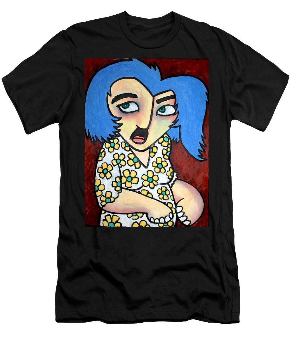 Portrait Men's T-Shirt (Athletic Fit) featuring the painting Sneaker by Thomas Valentine