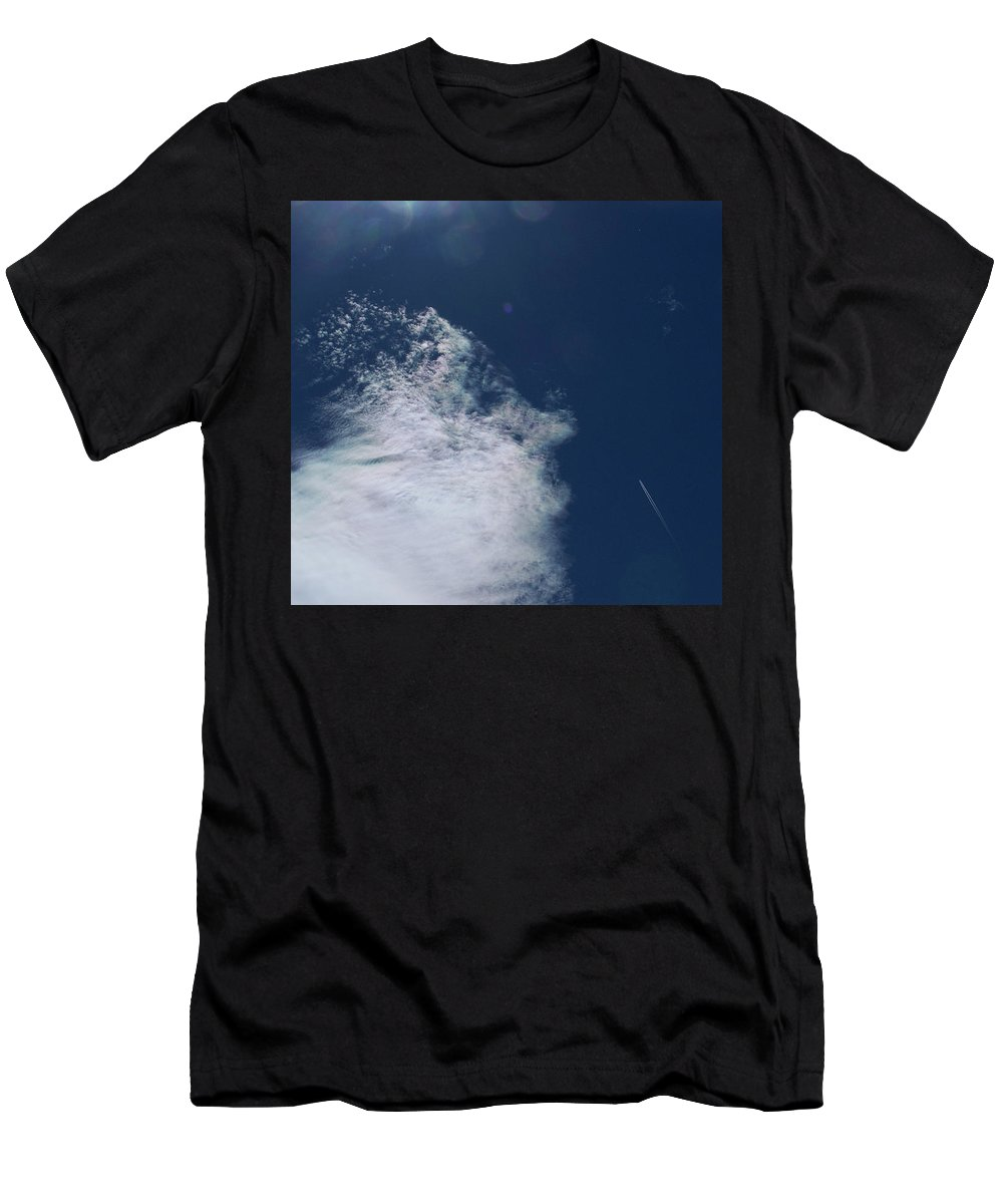 Strange Clouds Men's T-Shirt (Athletic Fit) featuring the photograph Sneezing Drones 2 by Kit Kay
