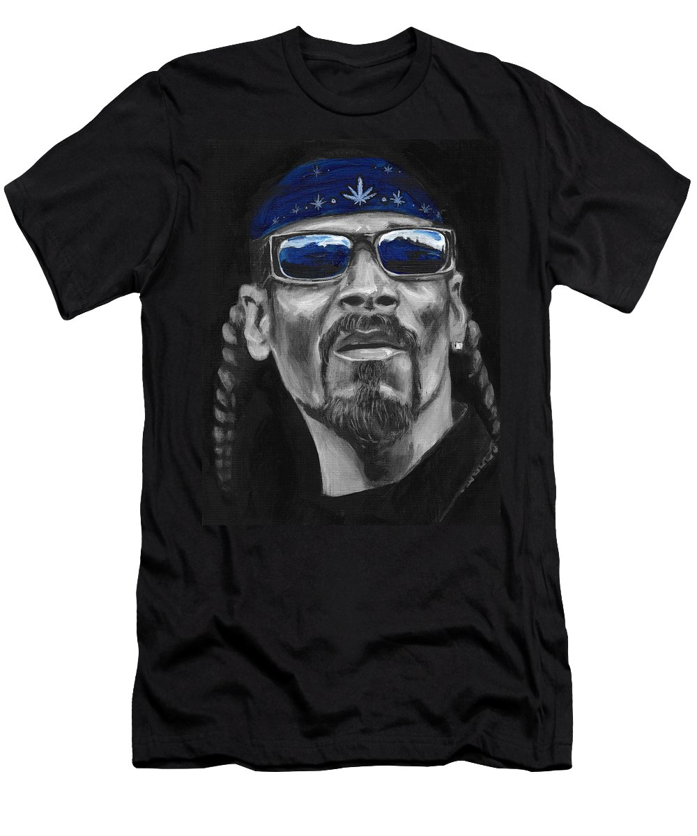 Crip Men's T-Shirt (Athletic Fit) featuring the painting Snoop by Charles Bickel