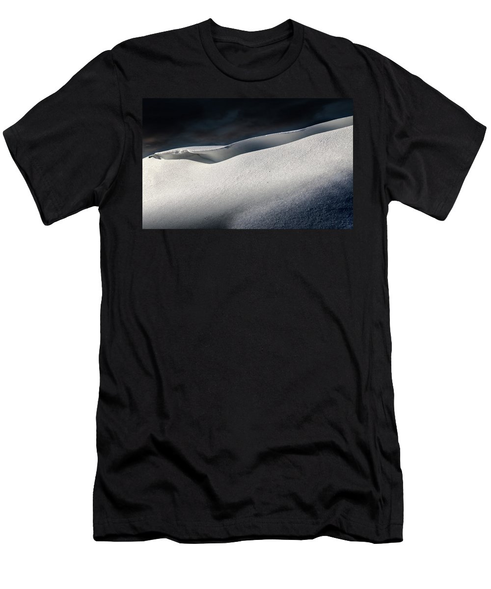 Snow Men's T-Shirt (Athletic Fit) featuring the digital art Snow Drift On The Beach by William Bader