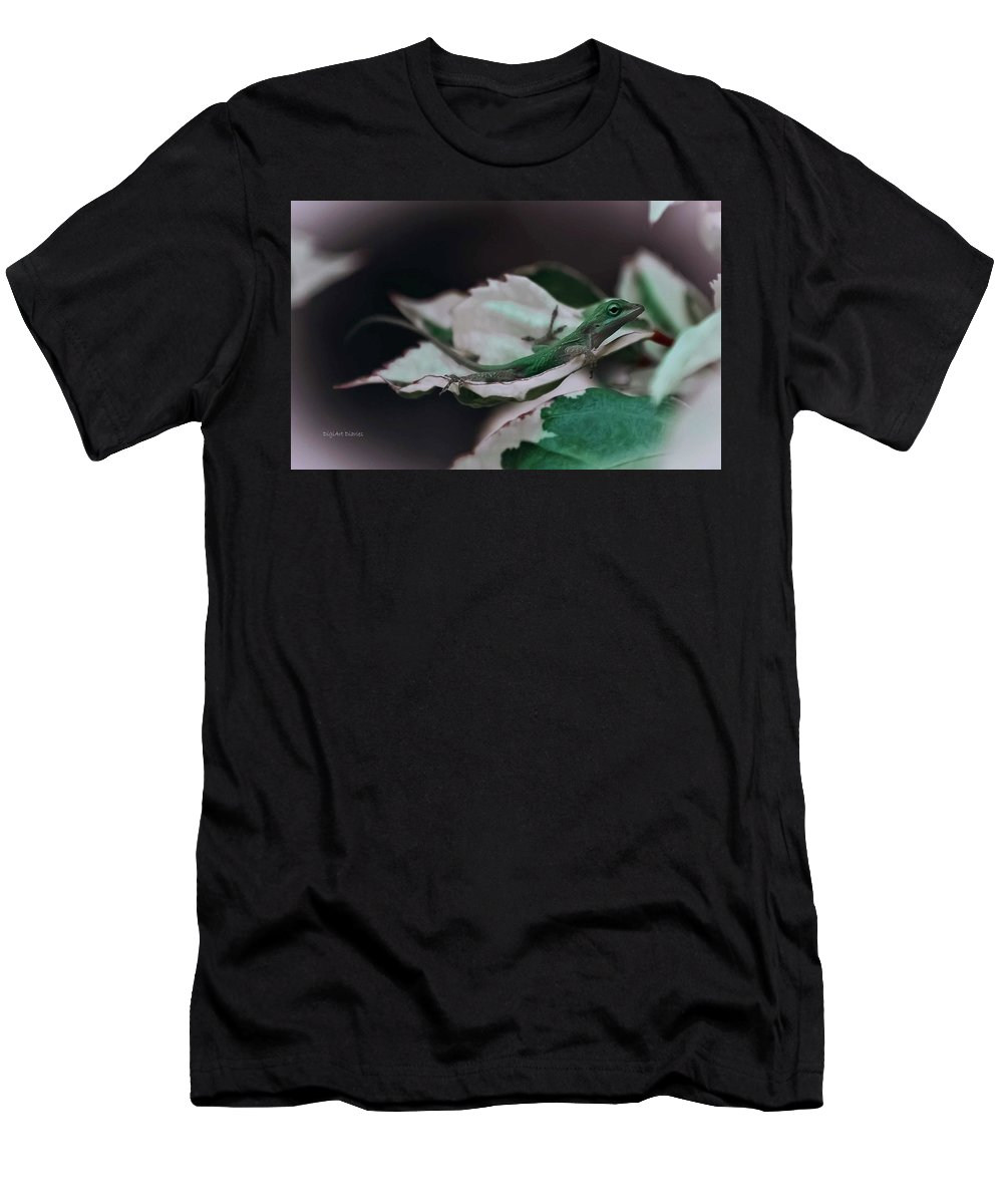 Lizard Men's T-Shirt (Athletic Fit) featuring the photograph Snow Queen Hammock by DigiArt Diaries by Vicky B Fuller