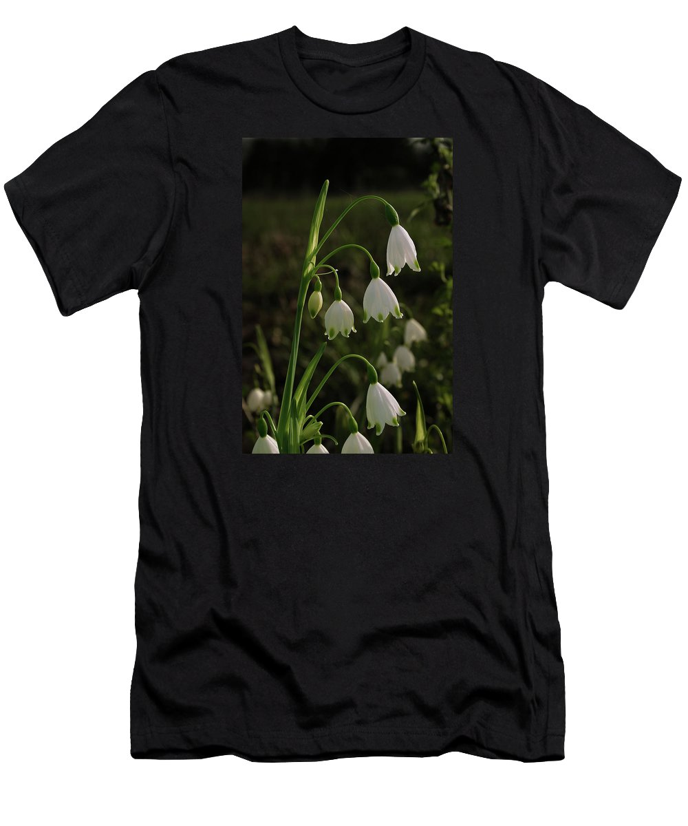Snowbell Men's T-Shirt (Athletic Fit) featuring the photograph Snowbells by Grant Groberg