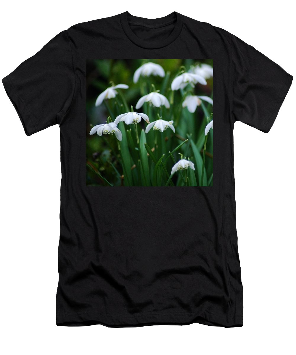Spring Men's T-Shirt (Athletic Fit) featuring the photograph Snowdrops by Chloe Rylander