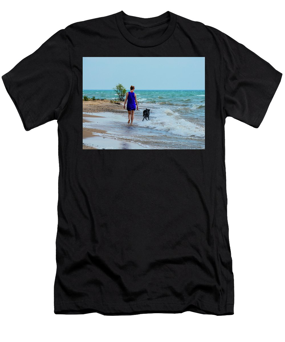 Rebel Miles Photography Men's T-Shirt (Athletic Fit) featuring the photograph Soaking Up The Sun by Johnny Yen