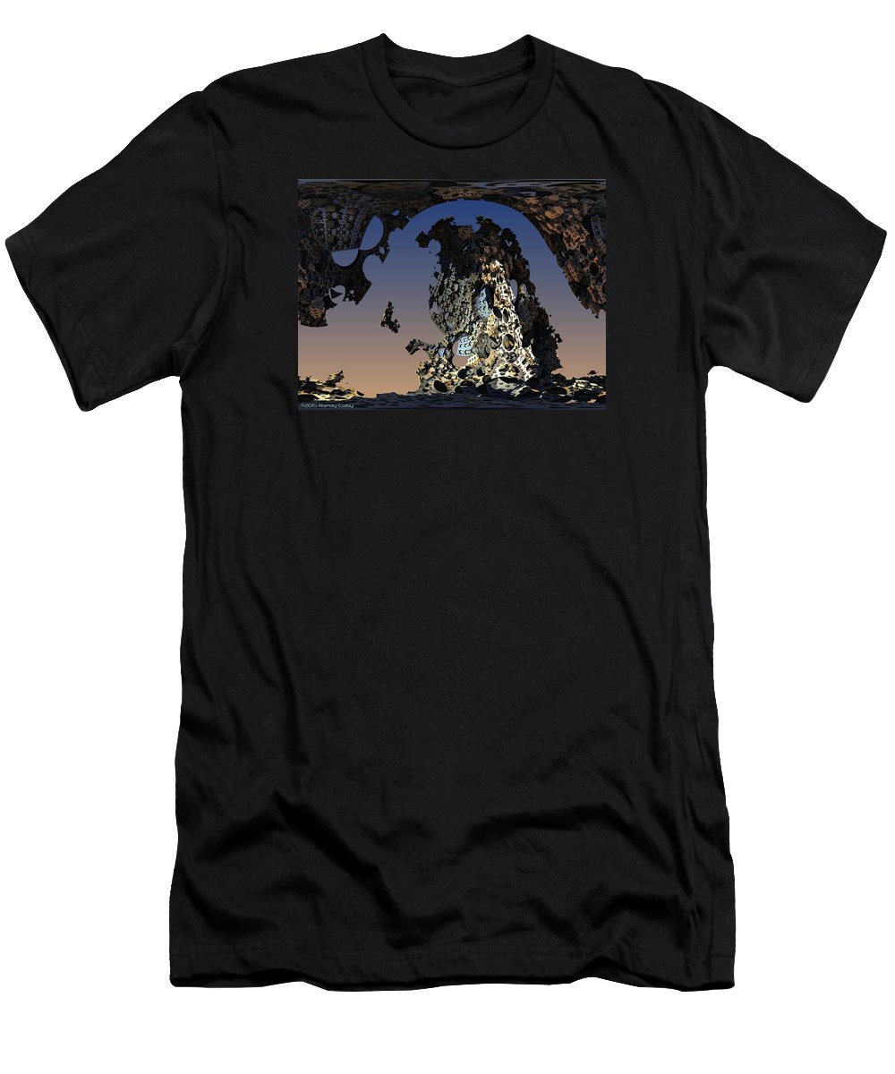Fractal Men's T-Shirt (Athletic Fit) featuring the digital art Society's Heap by Randy Colby