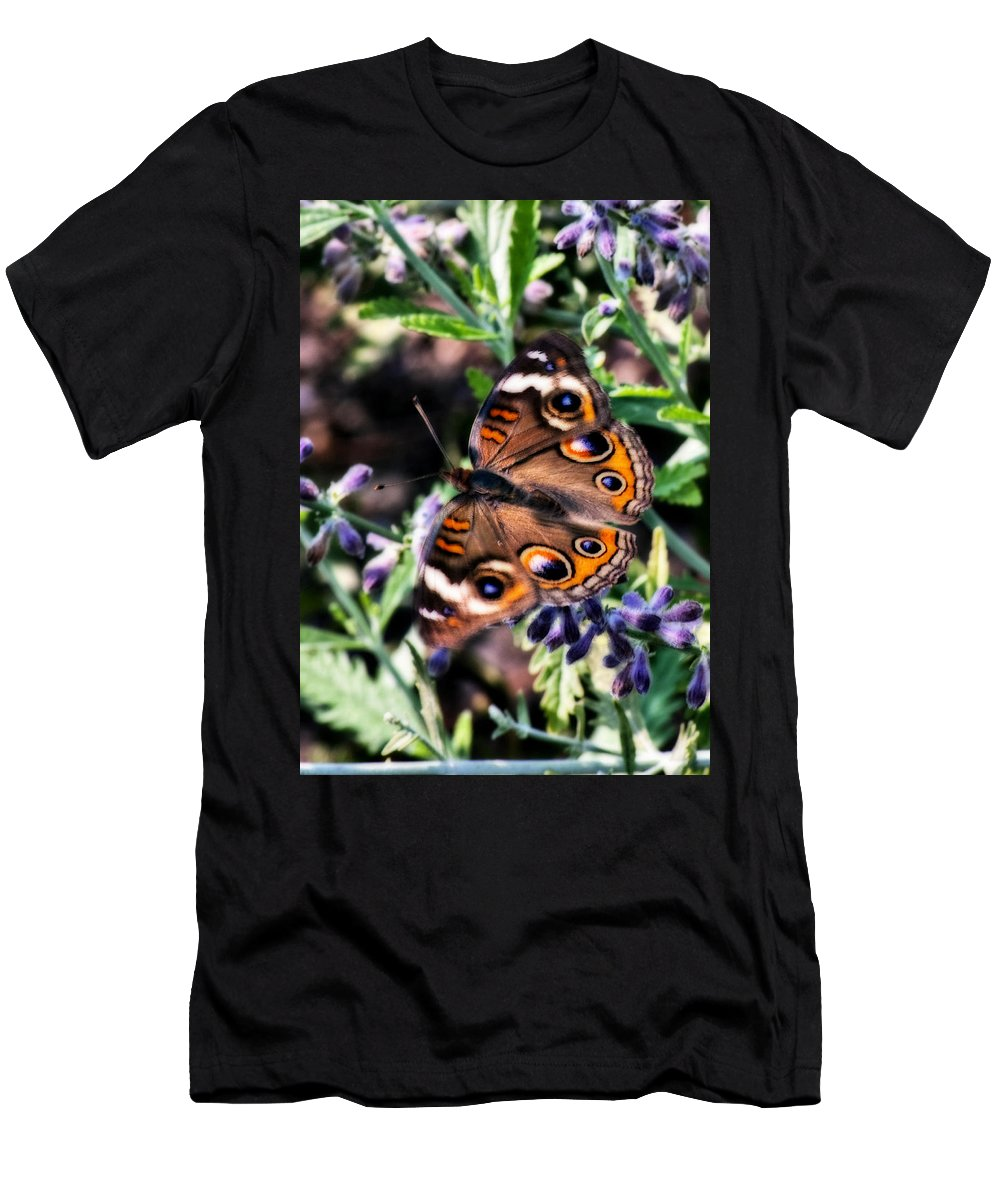 Butterfly Men's T-Shirt (Athletic Fit) featuring the photograph Soft Butterfly by Gary Adkins