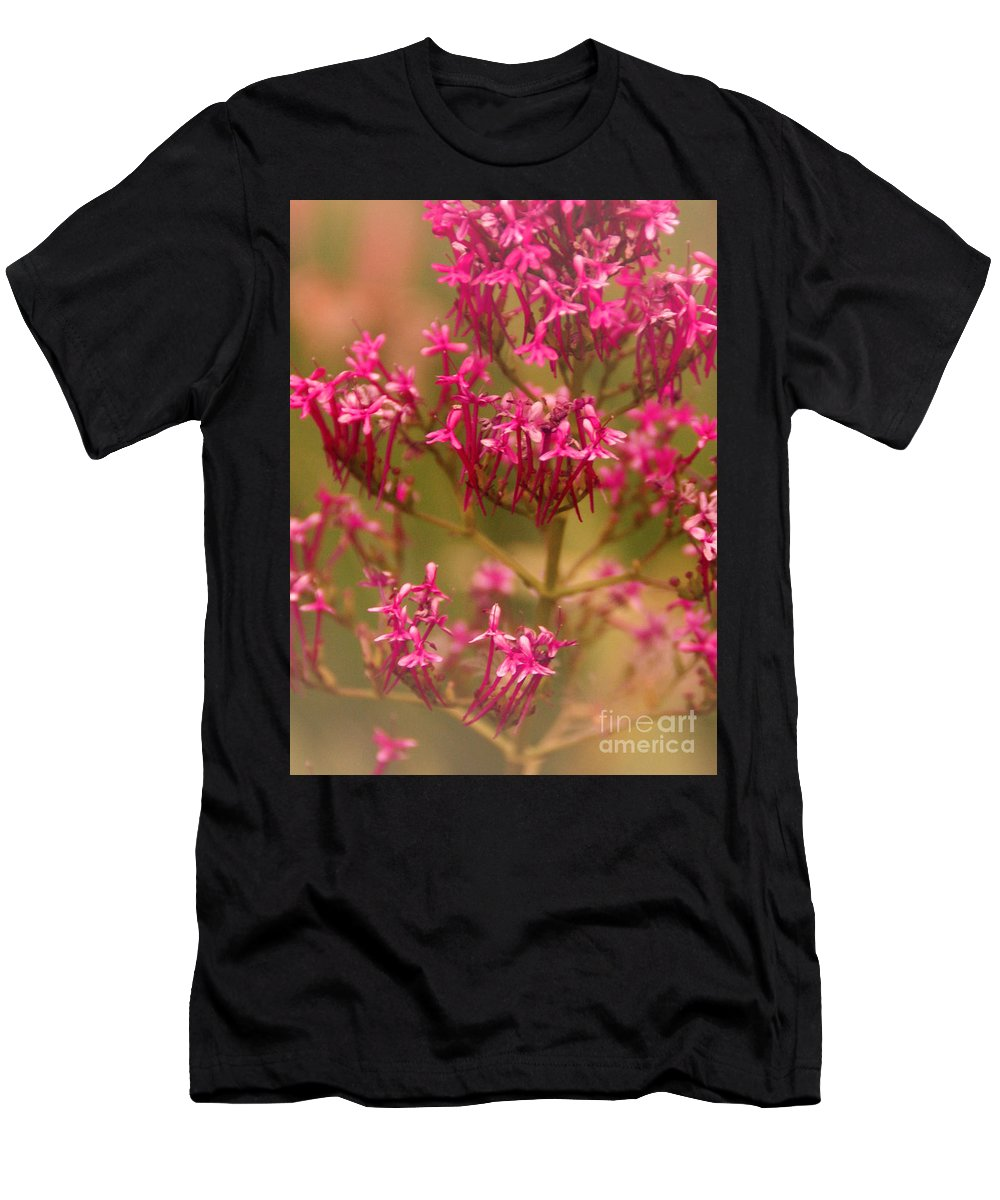 Flower Men's T-Shirt (Athletic Fit) featuring the photograph Soft Pirouette by Linda Shafer