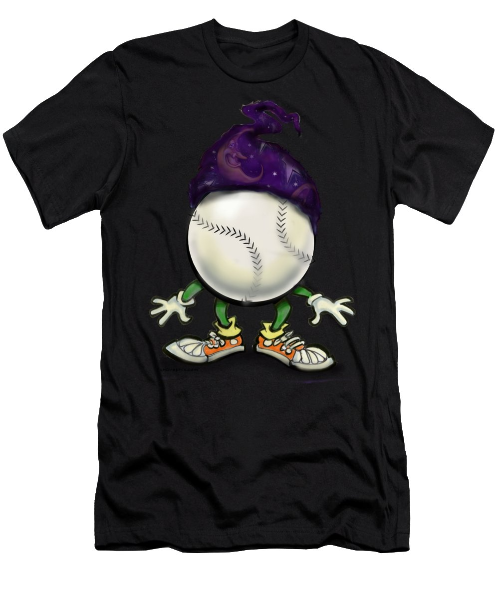 Softball Men's T-Shirt (Athletic Fit) featuring the digital art Softball Wizard by Kevin Middleton
