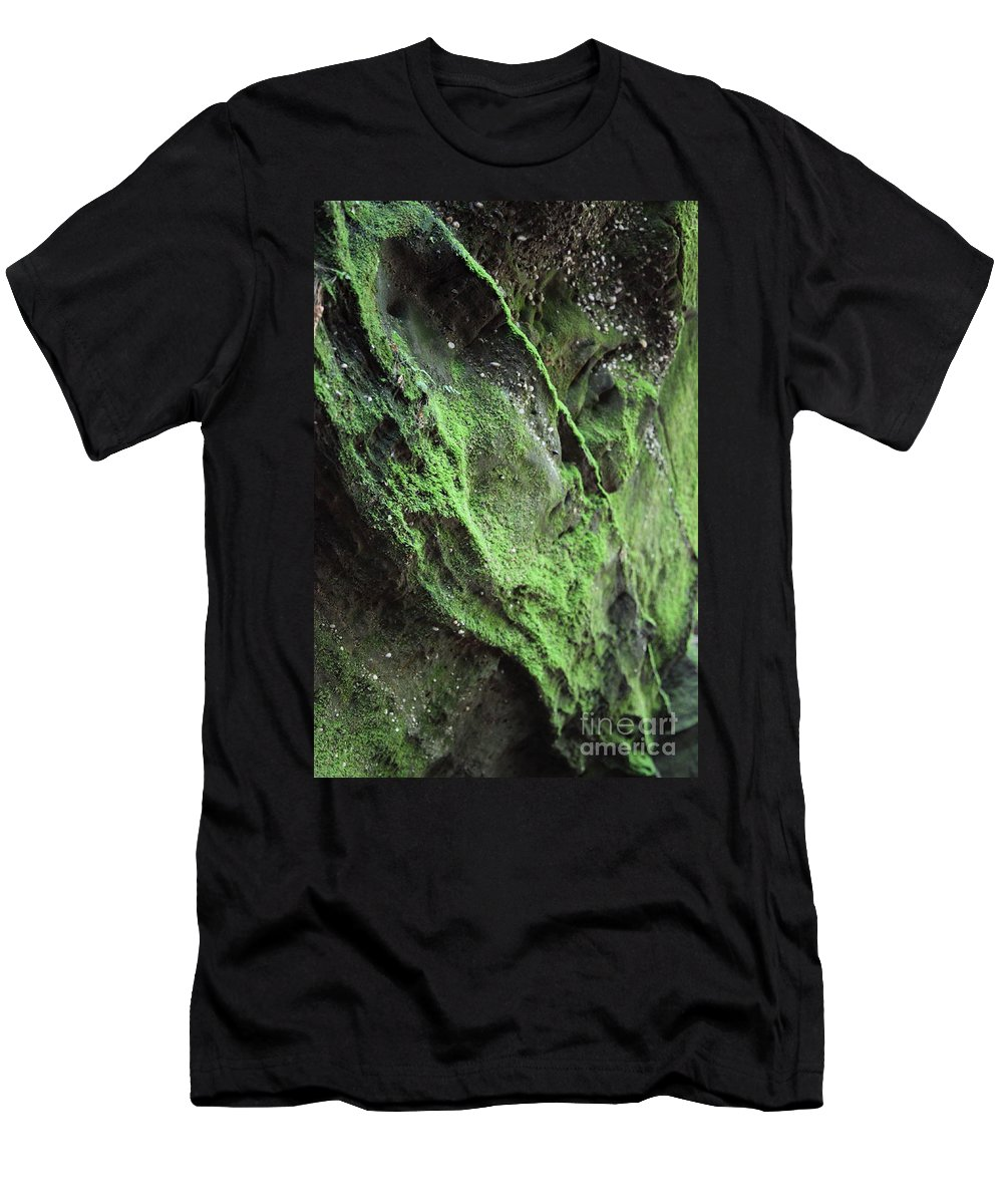 Rocks Men's T-Shirt (Athletic Fit) featuring the photograph Soften The Moment by Amanda Barcon