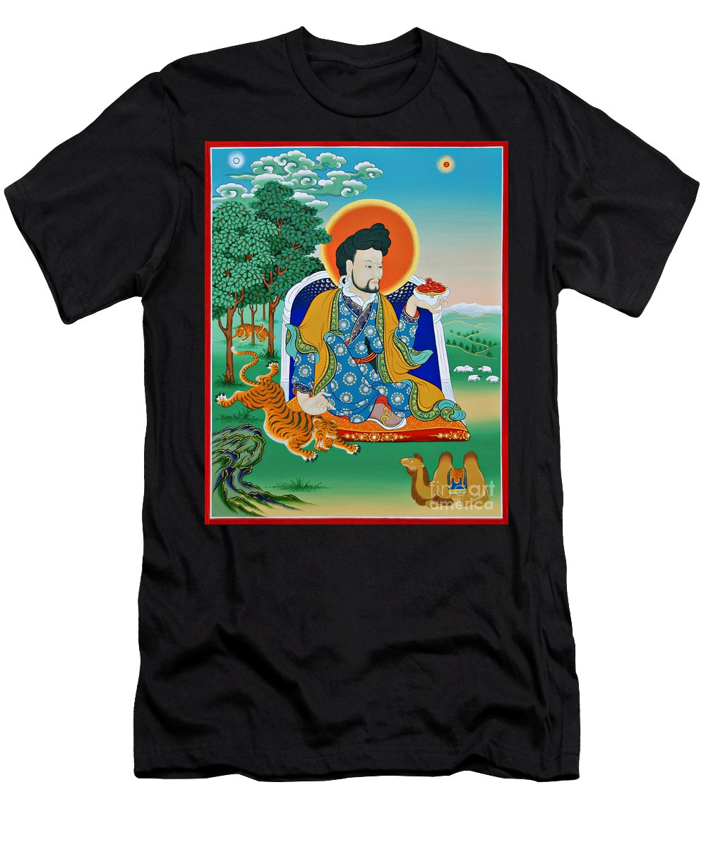Sogpo Men's T-Shirt (Athletic Fit) featuring the painting Sogpo Lhapal by Sergey Noskov