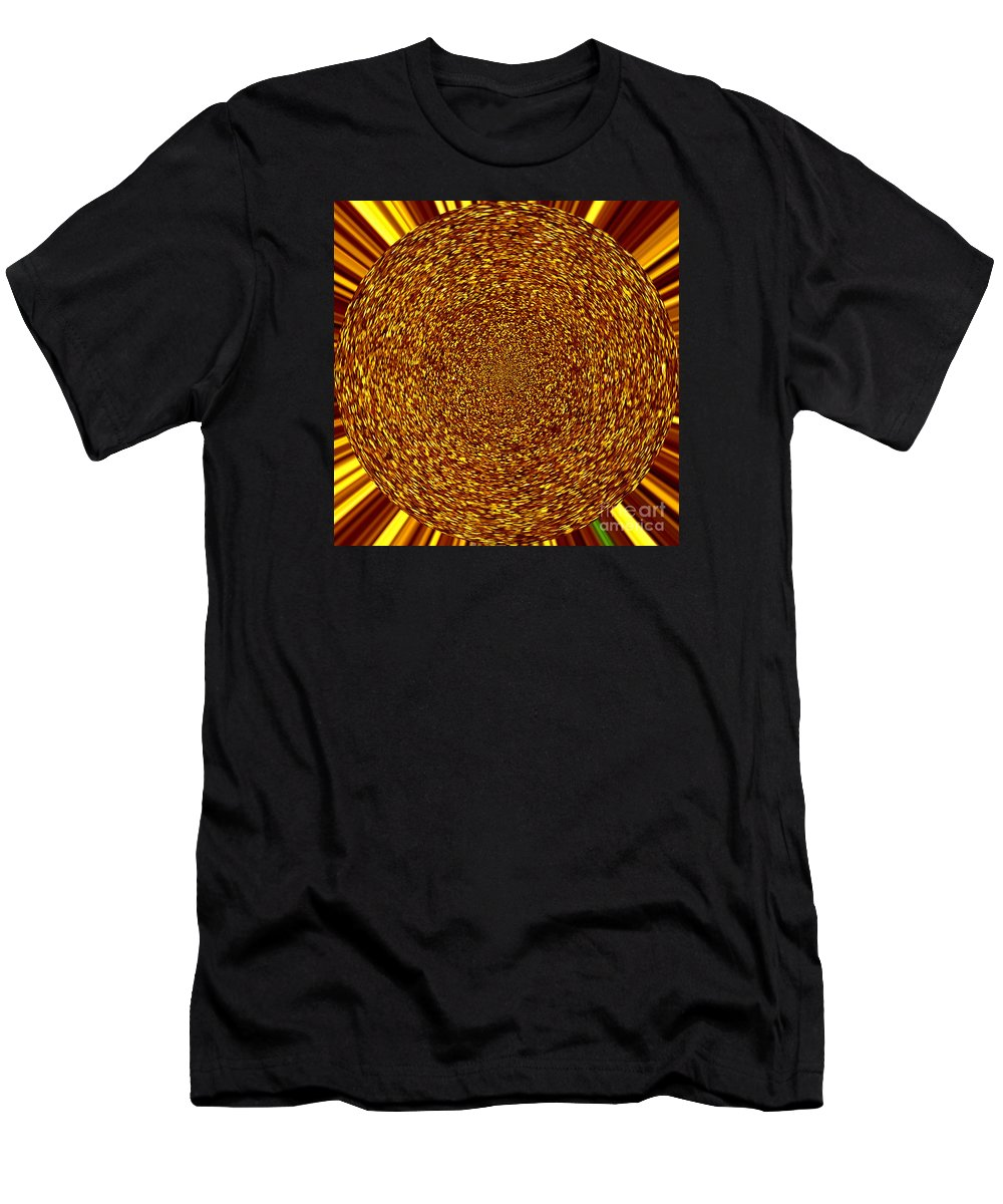 Abstract Men's T-Shirt (Athletic Fit) featuring the digital art Solar Flare by Susan Stevenson